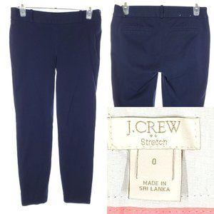 J. CREW Capri Pants Navy Blue Casual Trouser